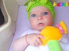 Cute Baby Blowing Raspberries. Little girl blowing raspberries fun.mp4